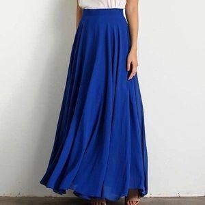 NWT Morning Lavender Lucy Paris Maxi Skirt, Blue